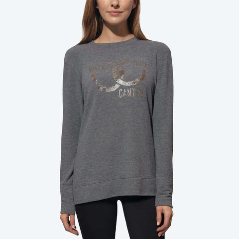 Chestnut Bay Rider Lucky Shoes Lounge Sweater