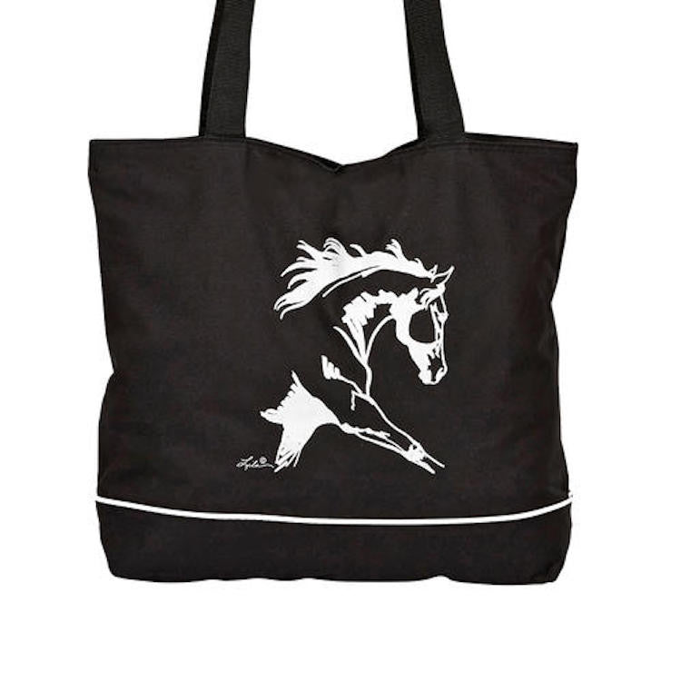 "AWST Tote Bag with ""Lila"" Dressage Horse Design"