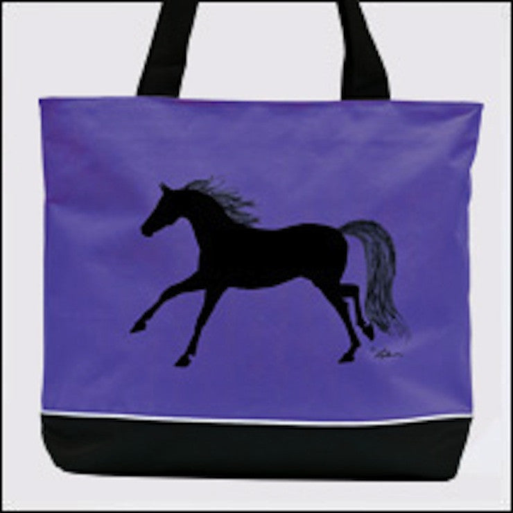 "AWST Tote Bag with ""Lila"" Galloping Horse"