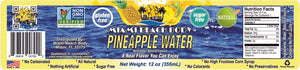 Miami Beach Body - Naturally Flavored Still Water, Non-GMO Certified, Gluten Free, Sugar Free, Carbonation Free, HFCS Free - 12 Oz - Pineapple Flavor - 12 Pack