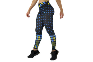 Sun, BlueMoon and Florida Tribes - Sports/Yoga Leggings (Black) with Polka Dots