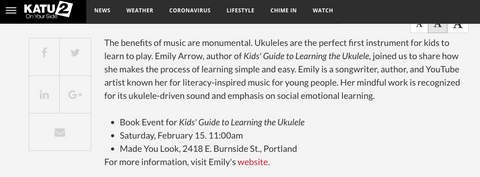 KATU AM Northwest Emily Arrow Made You Look