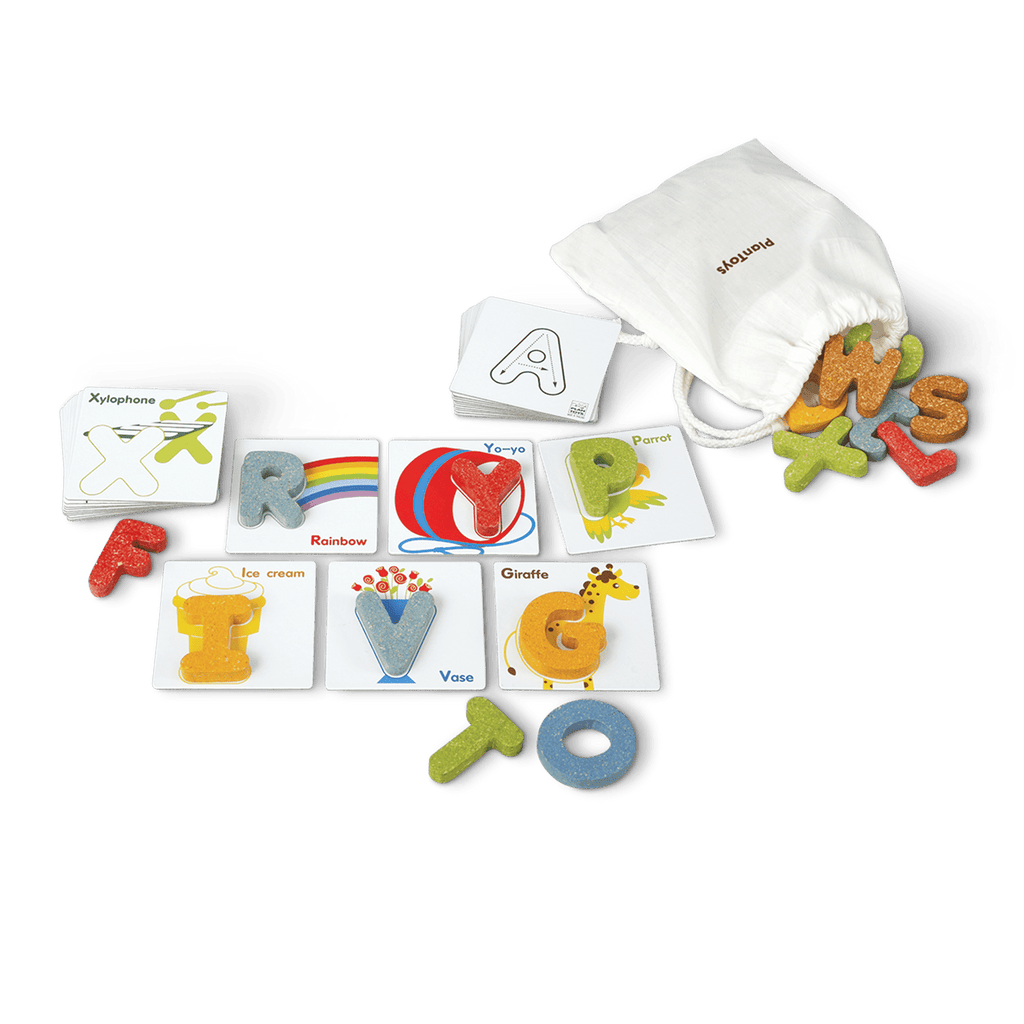 Wooden Alphabet Blocks + Tile Cards