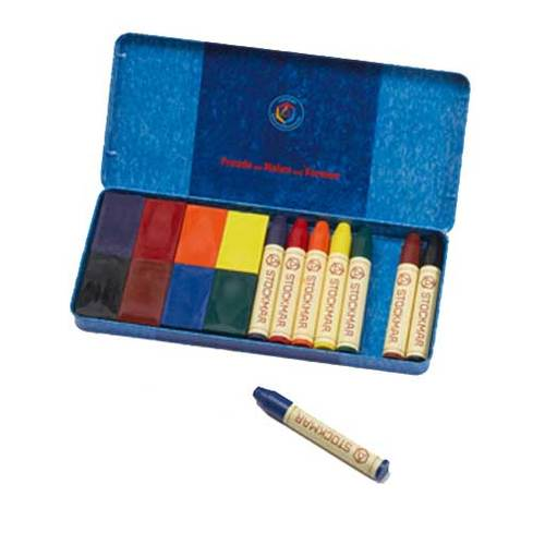 Stockmar Assortment - 8 Crayons + 8 Blocks