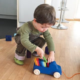 Blue Truck Wooden Pull Toy