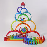 Grimm's Large Wooden Stacking Rainbow
