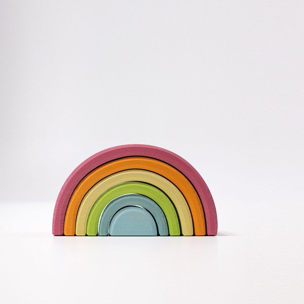 Grimm's Pastel Stacking Rainbow – 6-pieces