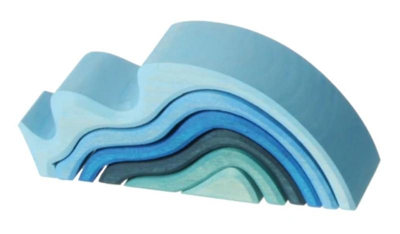 Grimm's Elements Nesting Blocks: 6-piece Water Waves
