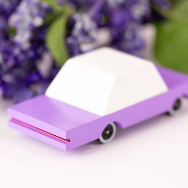 "Mini Wooden Lilac Car - ""The B. Berry"""