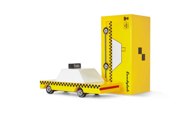 Mini Yellow Wooden Taxi