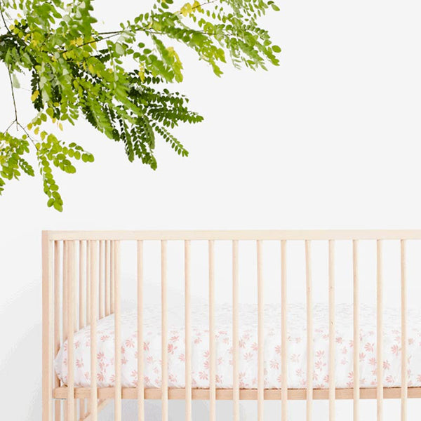 Palm Crib Sheet | Blush