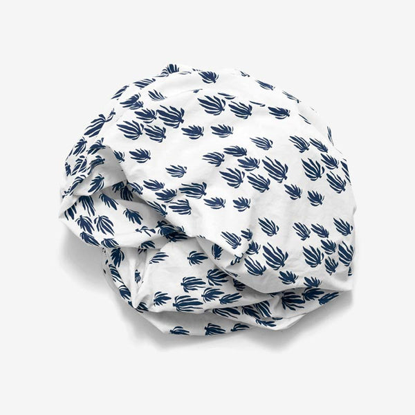 Seaweed Crib Sheet | Denim