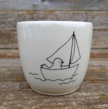 Handmade Stoneware Keepsake Cup (Price Marked Down!)
