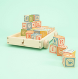 Classic ABC Blocks in Wagon