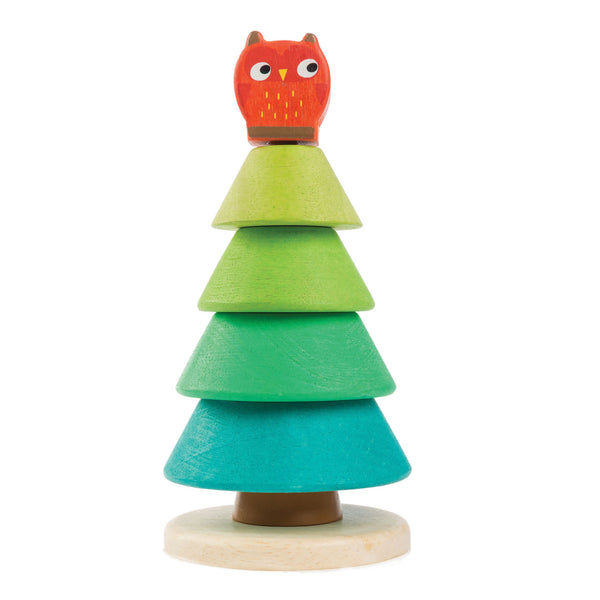 Stacking Fir Tree with Owl