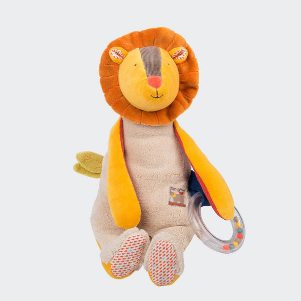 Adorable Lion with Ring Rattle