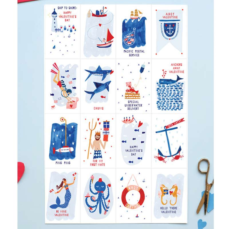 Ahoy Valentine! - Set of 32 Classic Little Valentines