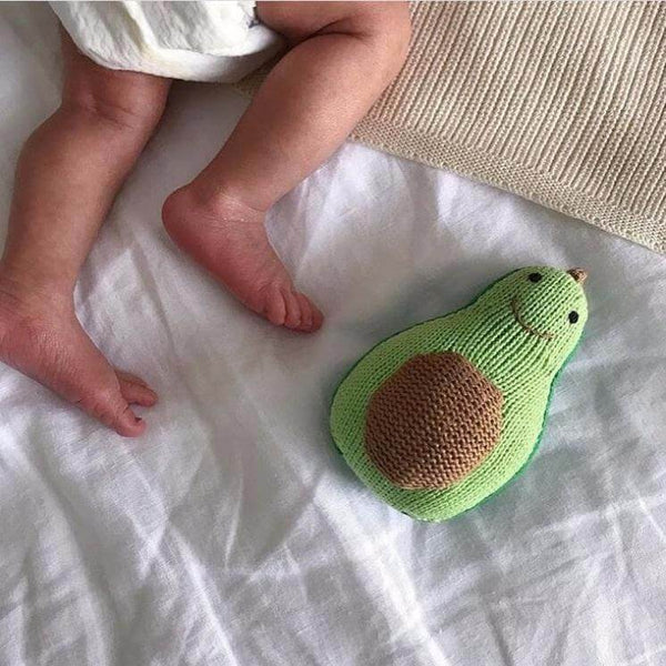 Organic Baby Rattle | Avocado