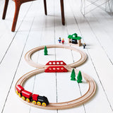 Classic Figure 8 Wooden Train Set
