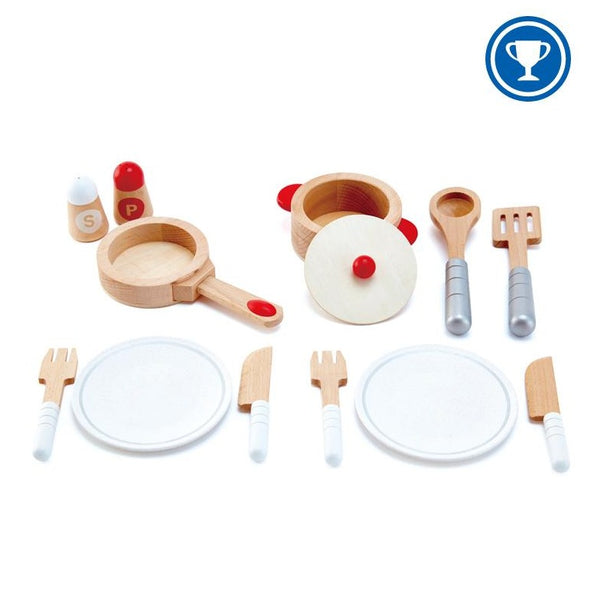 Wooden Kitchen Set | Pot, Pan, Dishes, Utensils!