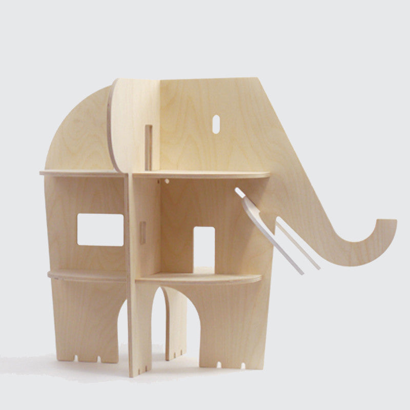 Elle Villa - Wooden Elephant Dollhouse