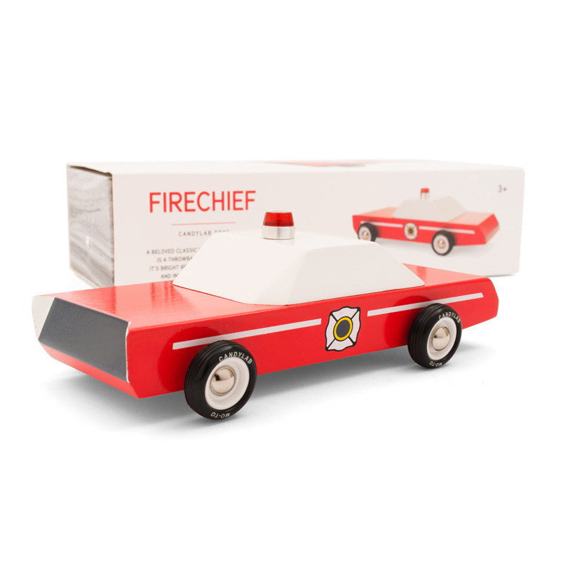 Wooden Firechief Car
