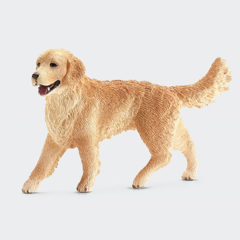 Golden Retriever + Puppy Animal Figurines