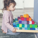 Grimm's Large Stepped Pyramid Wooden Blocks