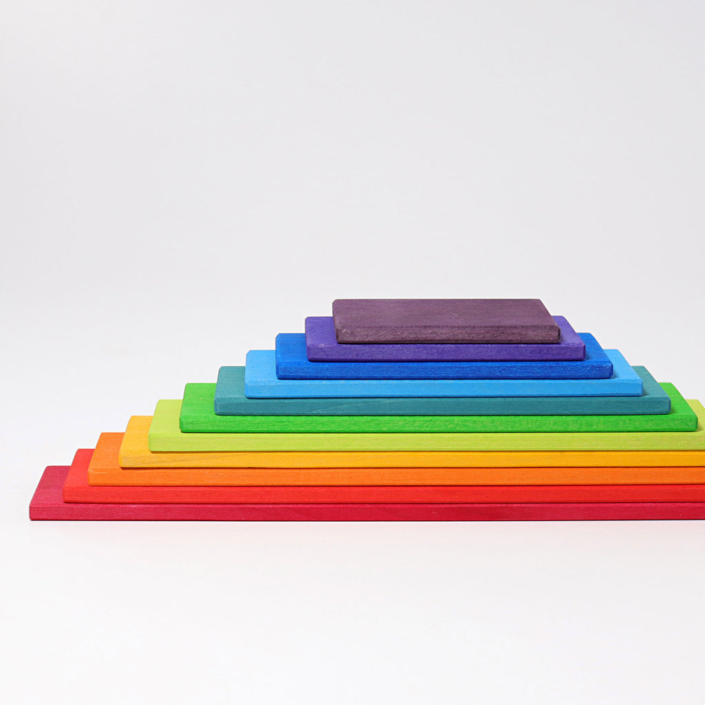 Grimm's Wooden Rainbow Building Board Set