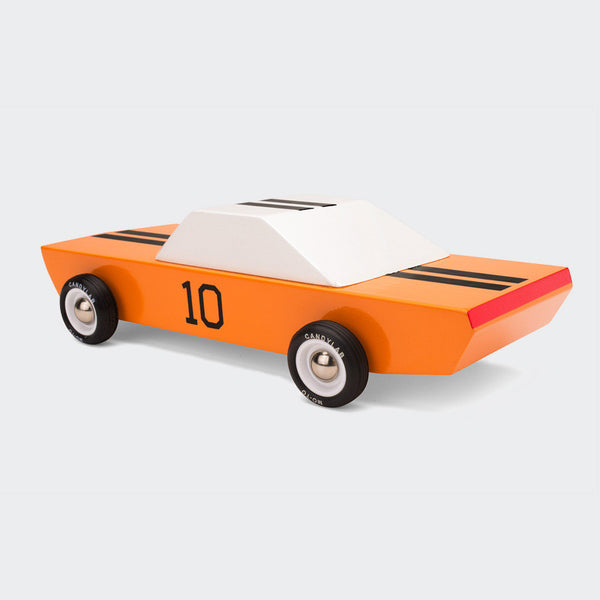 "Orange Wooden Racecar - ""GT-10"""