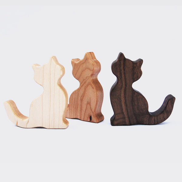 Wooden Cat Rattle