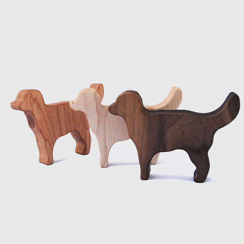 Wooden Labrador Dog Rattle