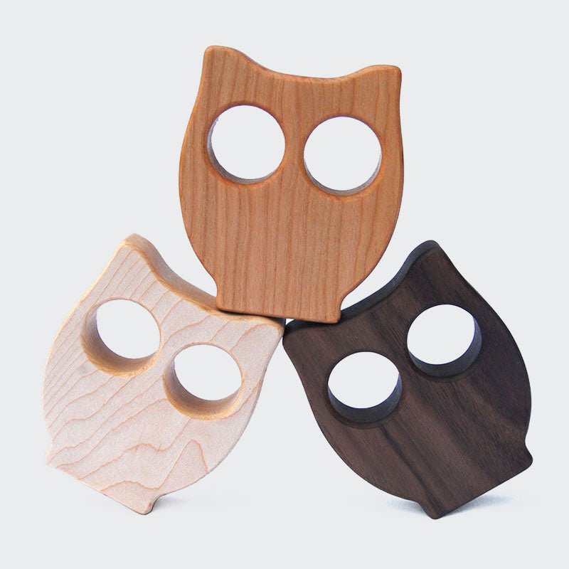 Wooden Owl Rattle