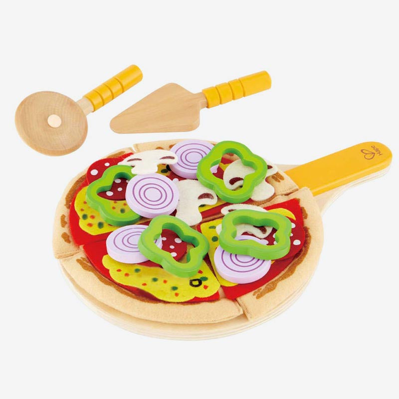 Wooden + Felt Pizza Set