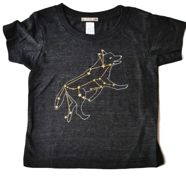 Gold Wolf Constellation - Kid's Shirt
