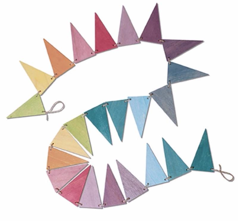 Wooden Pennant Banner - Pastel