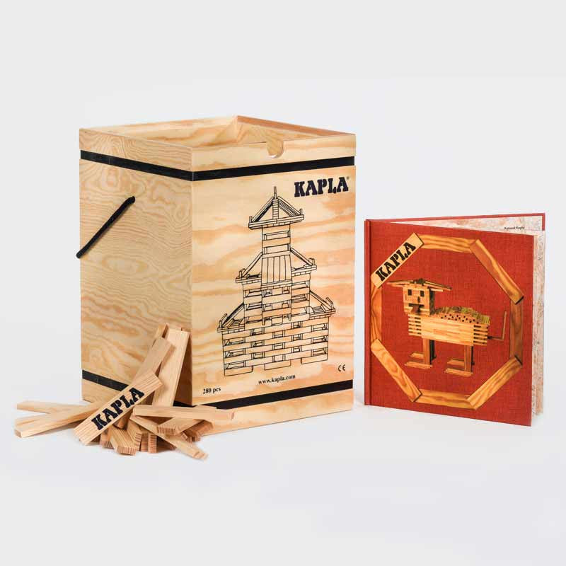 "KAPLA 280 Piece Chest (+ Book!)  ""The Magic Plank"""