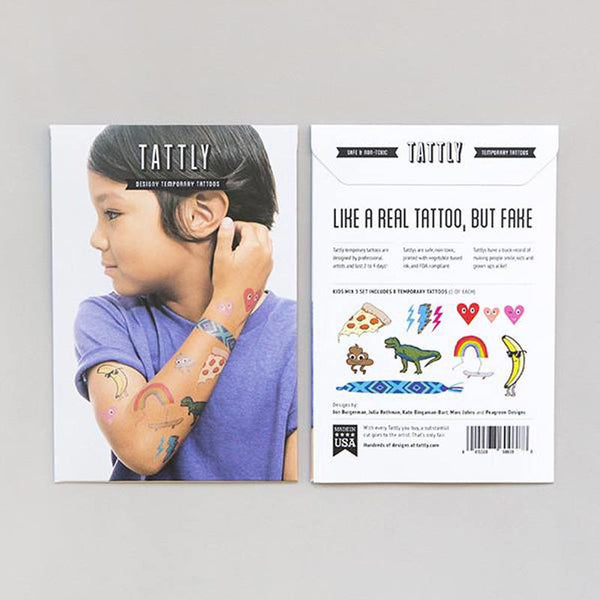 Set of Temporary Tattoos - Kids Mix Three