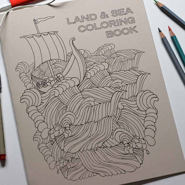 Land & Sea Coloring Book