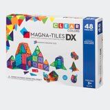 Magna-Tiles®  – Clear Colors – 48 Piece Deluxe Set