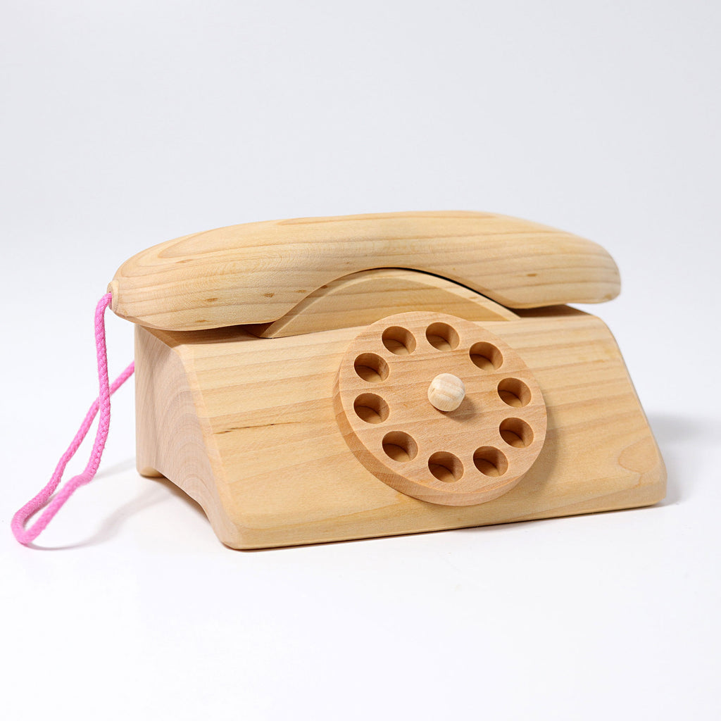 Wooden Telephone with Bell