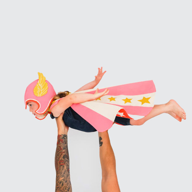 Reversible Pink Hero Cape