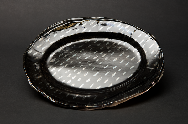 Dark Rain Plate by Alice Walton