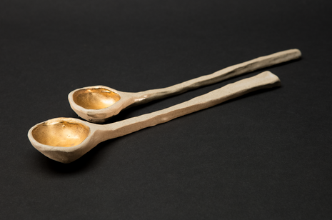 Gold Drop Serving Spoons by Alice Walton