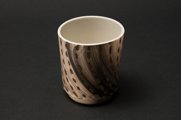 Black and gold beaker by Alice Walton