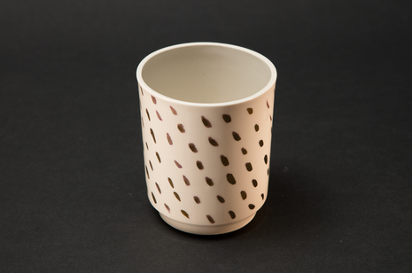 White and gold beaker by Alice Walton