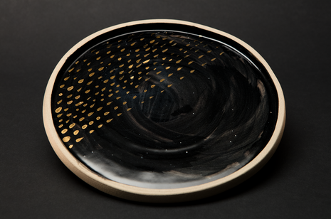 Black Night Plate by Alice Walton