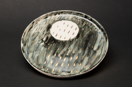 Night Rain Plate by Alice Walton