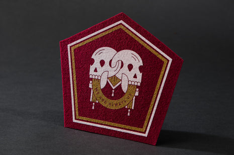 Locked Skulls Patch - Burgundy by Bee Teeth
