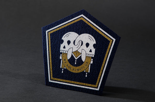 Locked Skulls Patch - Navy by Bee Teeth